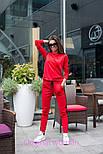 Женский стильный костюм с лампасами: кофта с капюшоном и штаны (6 цветов), фото 9