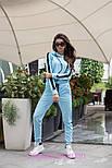 Женский стильный костюм с лампасами: кофта с капюшоном и штаны (6 цветов), фото 7