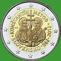 Словакия 2 евро 2013 г. Кирилл и Мефодий . UNC.