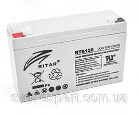 Акумулятор AGM RITAR RT6120A, Gray Case, 6V 12Ah ( 150 х 50 х 93 (99) ) Q10