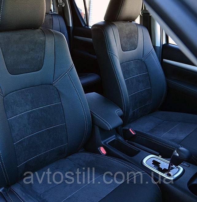 Чохли на сидіння Toyota Hilux VIII ❘ авточохли Хайлюкс (2015-..)