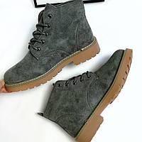 Жіночі зимові черевики сірі  продажа eb351feb0f7d9