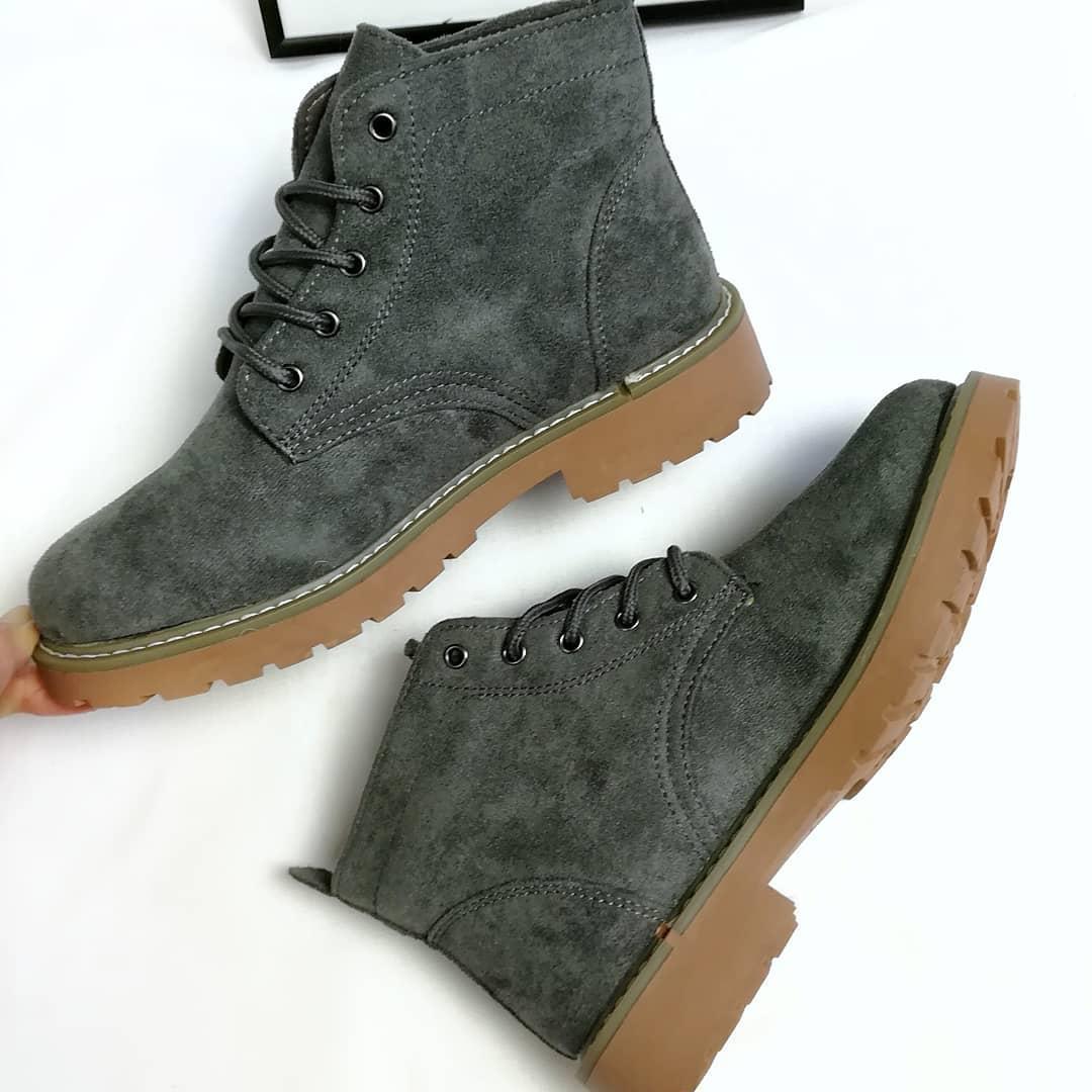 Жіночі зимові черевики сірі  продажа 431826d10ad23