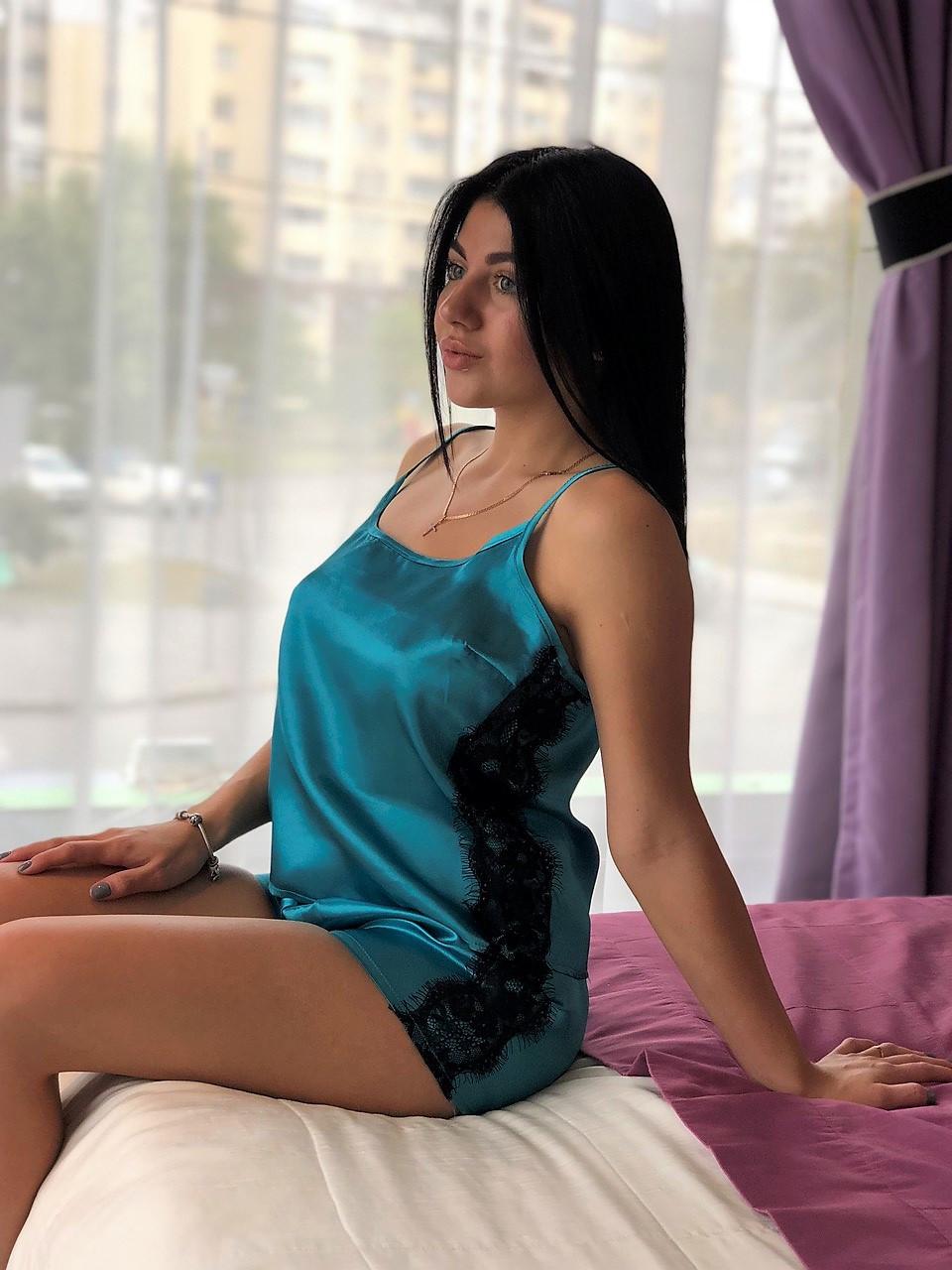 Яркая пижама с кружевом ТМ Exclusive.
