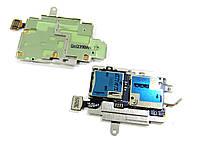 SIM-коннектор Samsung I9300 Galaxy SIII Garnet Red с коннектором карты памяти (GH96-05609A) Orig