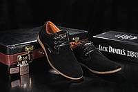 Кожаные Подростковые туфли Clarks Черные clas_chorn_velyur