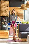 Женская замшевая юбка с поясом (5 цветов), фото 3