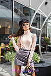 Женская замшевая юбка с поясом (5 цветов), фото 2