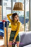 Женская замшевая юбка с поясом (5 цветов), фото 8
