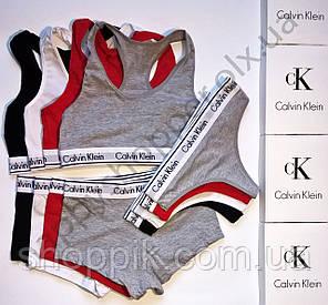 Женское нижнее белье Calvin Klein (стринги, шортики, топик) реплика