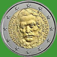 Словакия 2 евро 2015 г. 200 лет со дня рождения Людовита Штура . UNC.