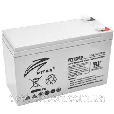 Аккумулятор AGM RITAR RT1280, Gray Case, 12V 8.0Ah  ( 151 х 65 х 94 (100) ) Q10