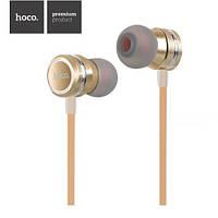 Навушники HOCO M16 Ling sound metal з мікрофоном gold