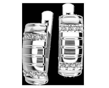 Серьги серебряные Полосы 41097
