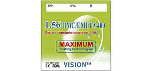 Линза для очков VISION™ с индексом 1,56 (с покрытием HMC+EMI+UV400)