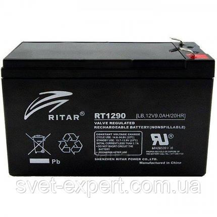 Аккумулятор AGM RITAR RT1290B, Black Case, 12V 9.0Ah  ( 151 х 65 х 94 (100) ) Q10, фото 2