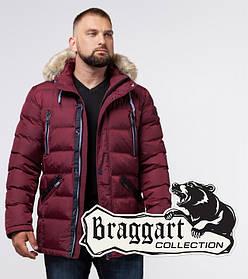 Braggart Aggressive 21226 | Мужская куртка с опушкой бордовая