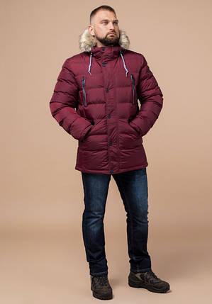 Braggart Aggressive 21226 | Мужская куртка с опушкой бордовая, фото 2