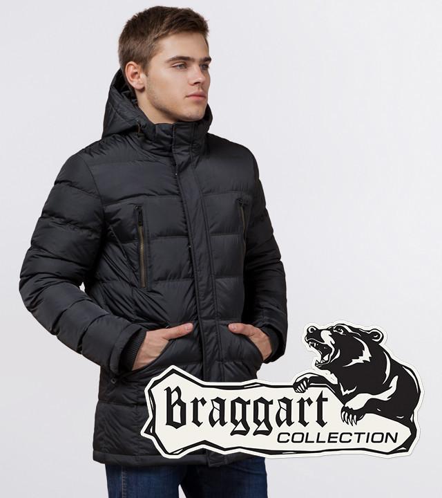 Braggart Aggressive 13542 | Зимняя мужская куртка теплая графит