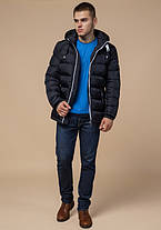 Braggart Aggressive 10168 | Зимняя куртка с капюшоном т.синий-белый, фото 2