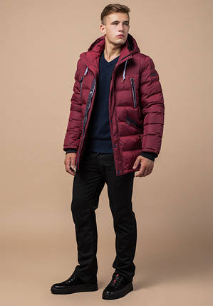 Braggart Aggressive 11726 | Мужская куртка бордовая, фото 2