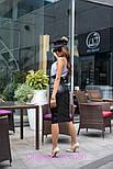 Женская классическая юбка-карандаш миди из эко-кожи (4 цвета), фото 5
