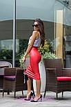 Женская классическая юбка-карандаш миди из эко-кожи (4 цвета), фото 6