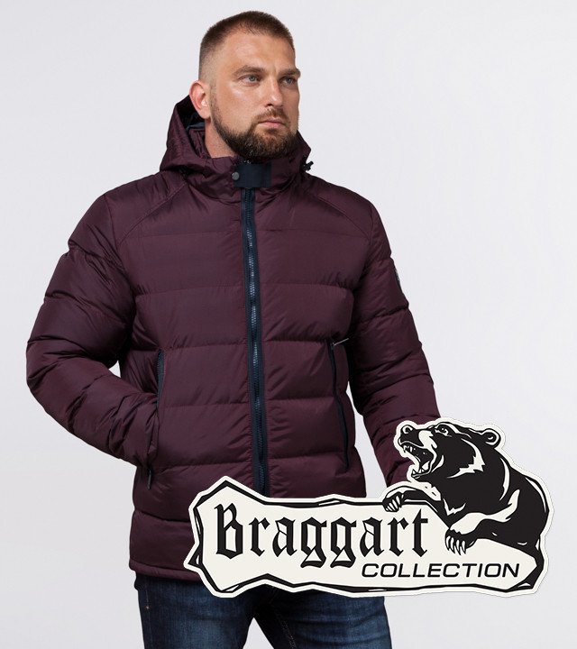 Braggart Aggressive 32540 | Мужская зимняя куртка темно-бордовая