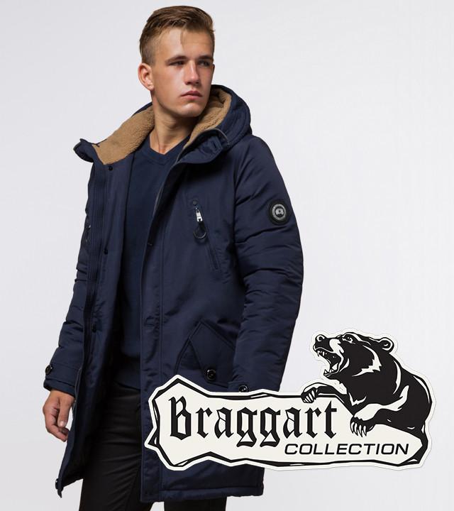 Braggart Arctic 96120   Парка зимняя с капюшоном синяя