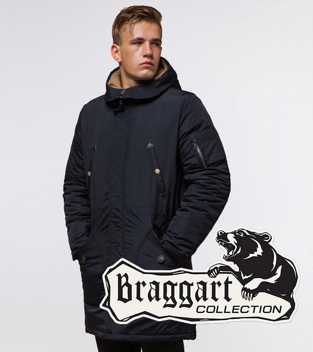 Braggart Arctic 90520 | Мужская парка на зиму черно-синяя
