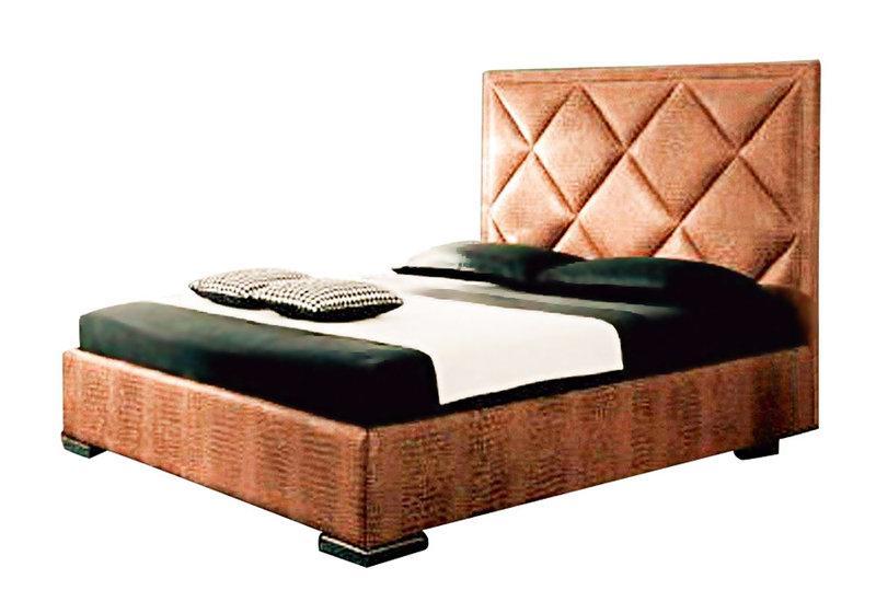 Ліжко з м'якою спинкою з підйомним механізмом Вест (160 х 200) КІМ
