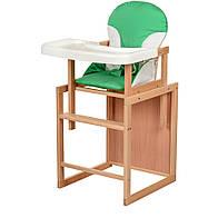 Стульчик для кормления деревяный BAMBI CH-L3,зеленый  ***