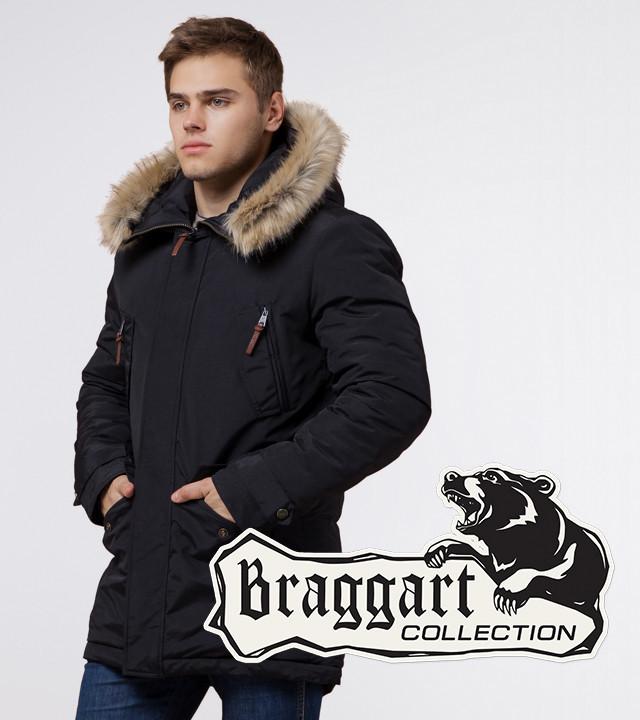 Braggart Arctic 32450 | Парка утепленная мужская черная