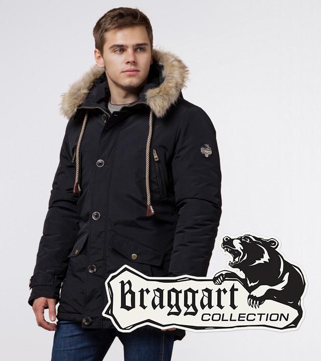 Braggart Arctic 38950 | Мужская парка на зиму черная