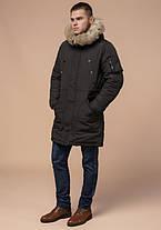 Braggart Arctic 91127 | Парка мужская зимняя коричневая, фото 2