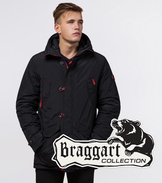 Braggart Arctic 44230 | Зимняя теплая парка черный-красный