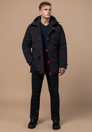Braggart Arctic 44230 | Зимняя теплая парка черный-красный, фото 2