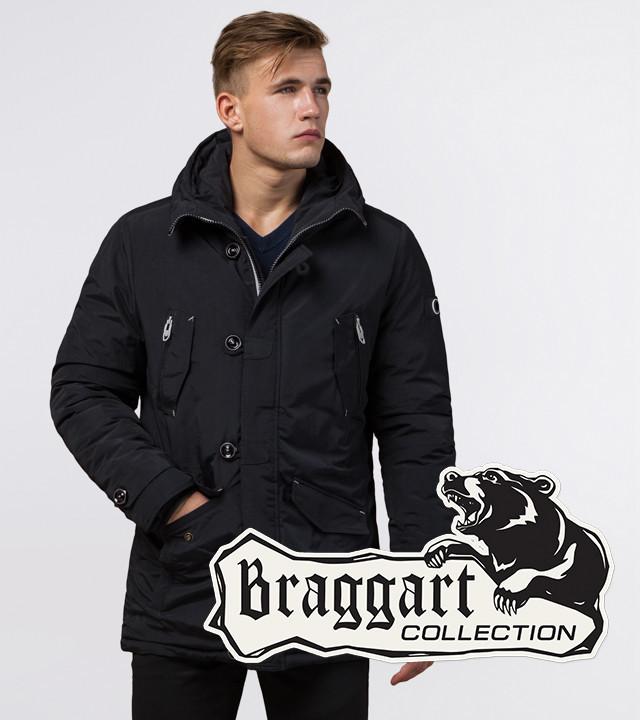 Braggart Arctic 44230 | Парка зимняя черный-серый