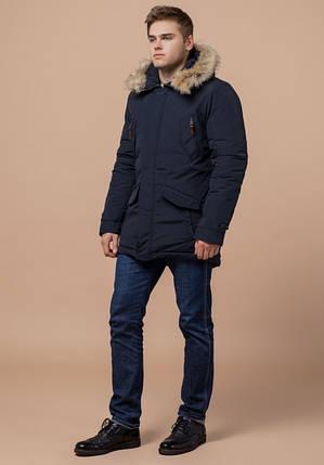 Braggart Arctic 32450 | Парка мужская с опушкой синяя, фото 2