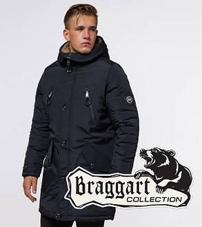 Braggart Arctic 96120 | Мужская зимняя парка черно-синяя, фото 2