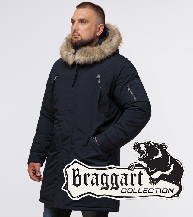 Braggart Arctic 13475 | Зимняя парка для мужчин темно-синяя