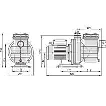 Насос AquaViva LX SWIM050M 12 м3/ч (1HP, 220В), для бассейнов объёмом до 48 м3, фото 2