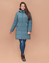 Braggart Diva 25175 | Зимняя женская куртка большого размера светлая бирюза, фото 2