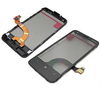 Nokia Lumia 620  Сенсорный экран черный с рамкой  VIRGIN.3 \ревизия шлейфа R3\ ОРИГИНАЛ