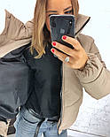 Женская стильная короткая куртка на молнии (3 цвета), фото 2