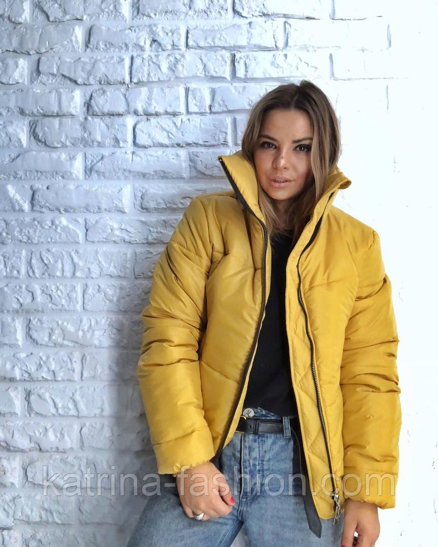 Женская стильная короткая куртка на молнии (3 цвета)