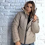 Женская стильная короткая куртка на молнии (3 цвета), фото 5
