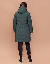 Braggart Diva 25095 | Теплая женская куртка большого размера серо-зеленая, фото 3