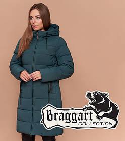 Braggart Simply 25005 | Зимняя женская куртка бирюза