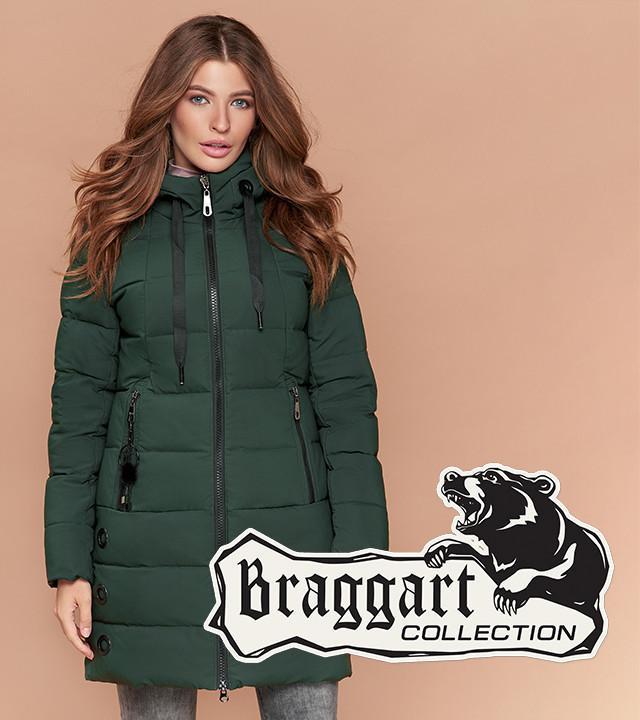 Braggart Simply 25435   Утепленная женская куртка хаки